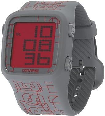 40280df0e1f7d9 Amazon.com  Converse Scoreboard Icon Digital Watch - VR002 (LOGO PRINT  GREY RED)  Watches