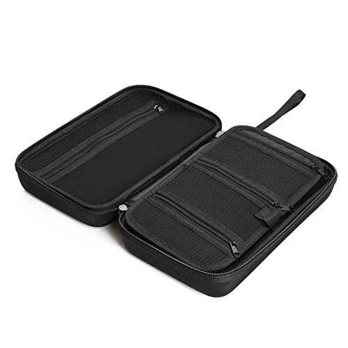 """Caseling Universal Electronics/Accessories Hard Travel Organizer Carrying Case Bag, 9.8"""" x 5.6""""x 2.8"""" - Black by caseling (Image #3)"""