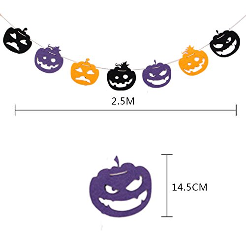 Outflower Halloween Pumpkin Nonwovens Banner Pumpkin Meme for Halloween (Happy Halloween Memes)