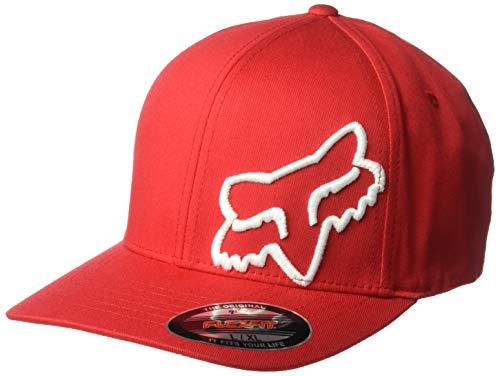 - Fox Men's Flex 45 Flexfit HAT, Dark Red, L/XL