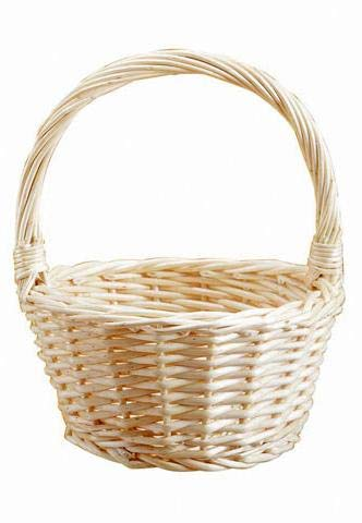 Richland Wicker Flower Girl Basket 12'' Set of 6