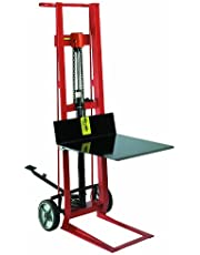 Wesco 260002 Steel Frame 2 Wheeled Hydraulic Pedalift, 750-Pound Capacity, 54-Inch Height, 22-Inch Lengthx22-Inch Width