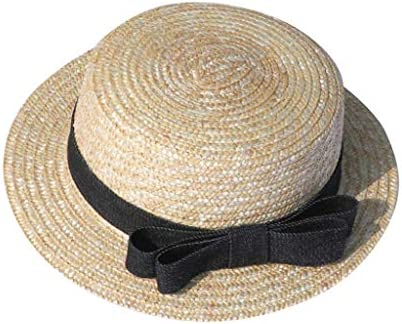 Vivicmw Lovely Summer Straw Hat Cap Straw Hats Kids Boys Girls Skimmer Hat Sun B