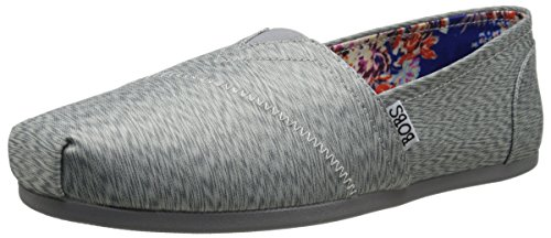 Bobs Van Skechers Womens Plush Caleidoscope Shoe Grey