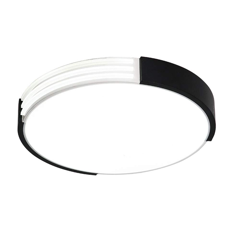 Wandun Deckenleuchte, Einfache runde LED Deckenleuchte Schlafzimmer Lampe Nordic kreative Neue LED Deckenleuchte schwarz und weiß Schlafzimmer Lampe Persönlichkeit Mode Lampen