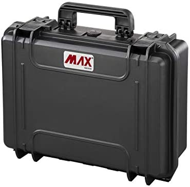 Max MAX430CAM IP67 Rated Waterproof Durable Watertight Equipment Photography with Hard Carry Plastic Case Padded Dividers/Flight Case/Tool Box