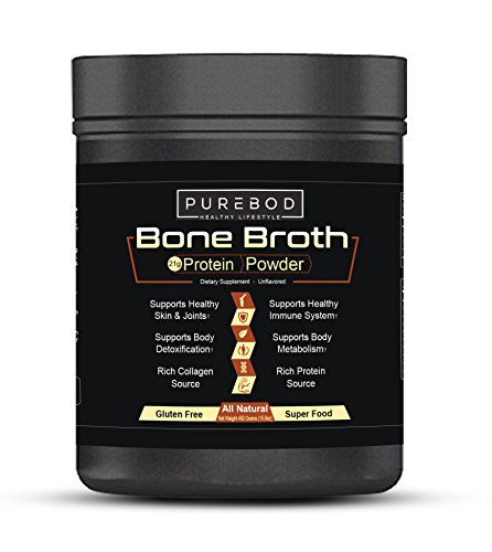 Beef Bone Broth Mix Superfood For Paleo & Keto Weight Loss | Certified Natural (Dehydrated Bone Broth)