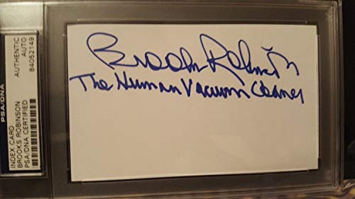 Brooks Robinson Autographed Signed 3X5 Index Card PSA/DNA Certified Memorabilia - Card Signed Autographed Index 3x5