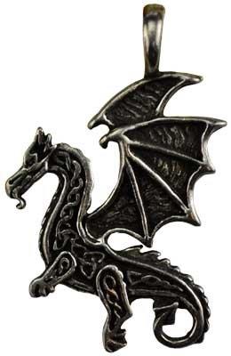 ケルトFlying Dragon保護アミュレットネックレス B016CKE23M