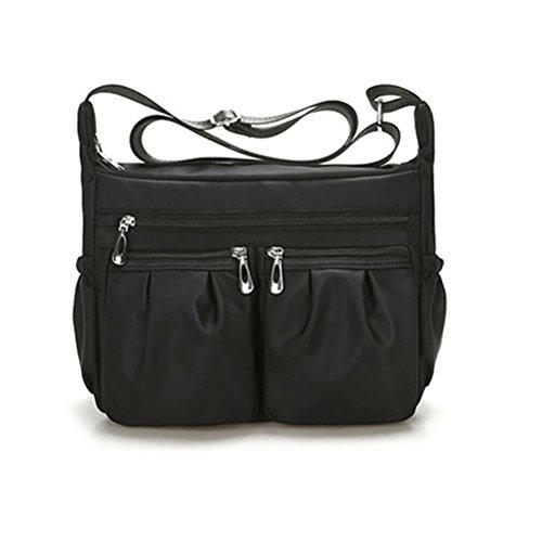 Sac Femme Sac Sac Imperméable portés Bandoulière Sacs épaule Messenger Sac à Noir ZHRUI Multi Main Poches YwdfSdx