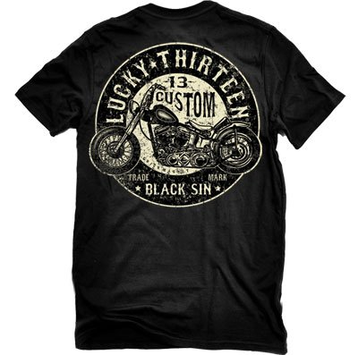 Lucky-13-Black-Sin-Mens-T-shirt-X-Large