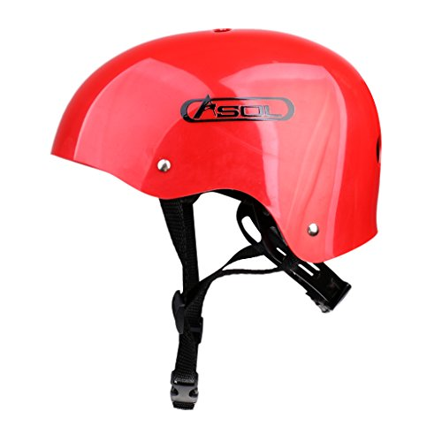 MonkeyJack Outdoor Mountaineering Climbing Helmet Kayaking Rappelling Abseiling Safety Rescue Protective Gear - Red by MonkeyJack