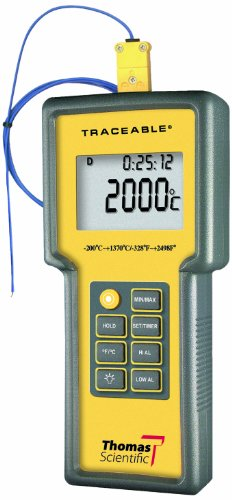 Thomas Traceable Total-Range Thermometer, -328 to 2498 degree F, -200 to 1370 degree C by Thomas