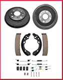Mac Auto Parts 40122 Mazda Protege Ford Escort Tracer Mazda 323 (2) Brake Drums Shoes Springs