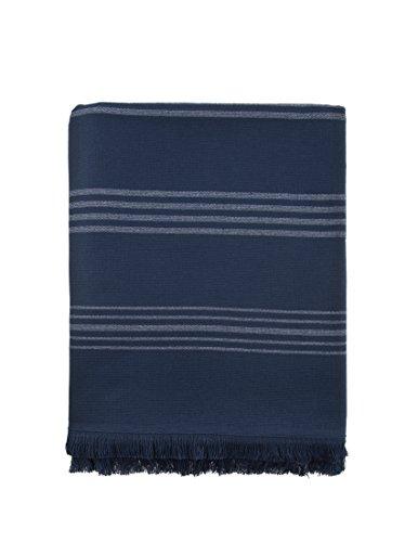 Side Terry - AQUABORA Cuba Navy Turkish Towel One Side Terry Bath and Beach Towel%100 Cotton Peshtemal ...