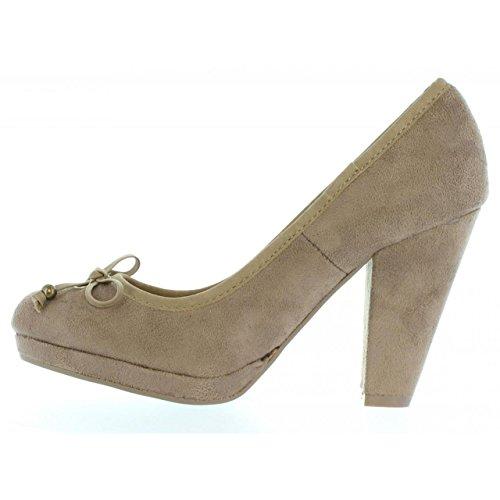 Zapatos de tacón de Mujer MTNG 55207 AFELPADO PIEDRA