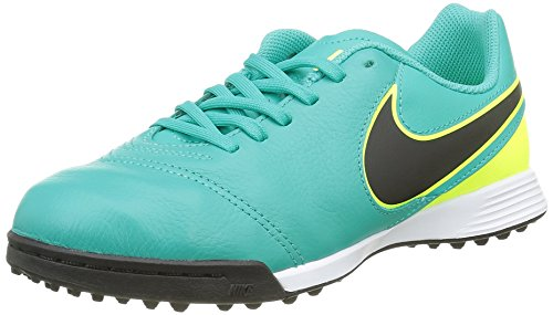 Nike Jr Tiempox Legend Vi Tf, Botas de Fútbol Unisex Bebé Verde (Clear Jade / Black-Volt)