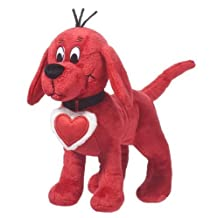 Douglas Cuddle Toys Valentines CLIFFORD With Heart Collar