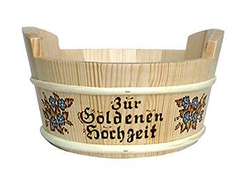 Amazon De Geschenkkorb Zur Goldenen Hochzeit Mit Namen Graviert