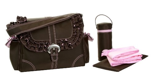 Kalencom Miss Prissy Buckle Bag, Chocolate/Pink