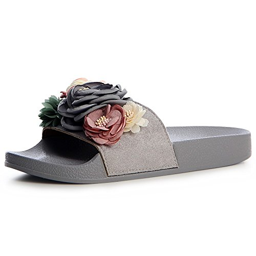 Gris Femmes topschuhe24 topschuhe24 Sandalettes Sandales Femmes 77ROX