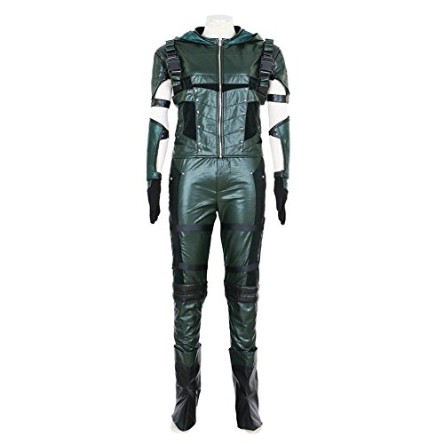 Green Arrow Costumes Replica (CG Costume Men's Green Arrow Oliver Queen Season 4 Cosplay Costume Large)