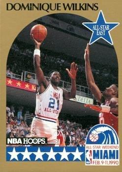 sketball Card (Atlanta Hawks) 1990 Hoops #12 All Star (Dominique Wilkins Atlanta Hawks)