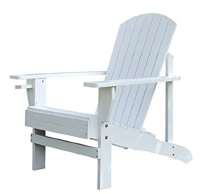 Prime Outsunny Adirondack Outdoor Patio Lounge Chair White Download Free Architecture Designs Pushbritishbridgeorg
