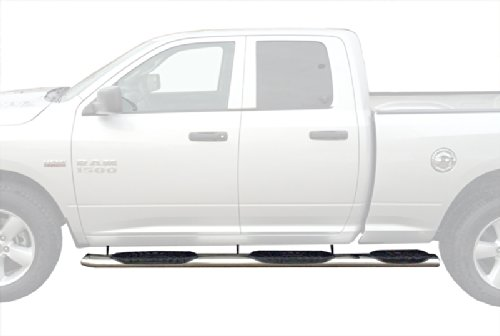 Nerf Bars Riser for 2009-2018 Dodge RAM 1500 QUAD CAB// 2010-2018 DODGE RAM 2500 3500 QUAD CAB Side Steps 6 Stainless Steel Nerf Bars Side Step Rails Running Boards 2pcs with Mounting Bracket Kit