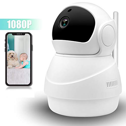 Nanny Cam Wireless IP Camera 1080P,360 Degree Smart WIFI Camera Pan Tilt Zoom with Cloud Service,3D Image Touch Navigation,Panoramic View Night Vision,Two-Way Audio,Motion Detection for Elder,Baby,Pet