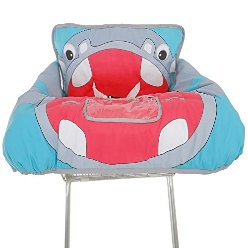 Cute 2-in-1 Grocery Cart Cover and Highchair Seat Cover for Baby (Hippo) / Cute 2-in-1 Grocery Cart Cover and Highchair Seat Cover for Baby (Hippo)