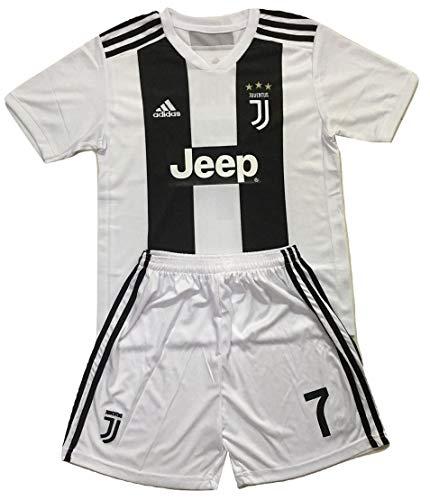 76c45eae5 Gadzhinski2017 Ronaldo #7 Juventus 2018-2019 Kids/Youths Home Soccer Jersey  & Shorts