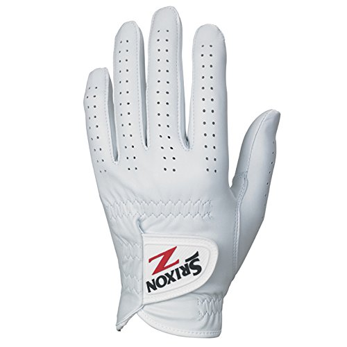 (Srixon Mens Z Cabretta Golf Gloves, White, Large, Left)