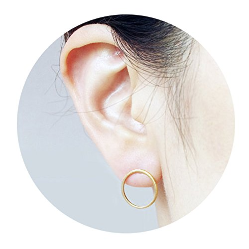 Elegant Hollow Circle Simple Stud Earrings for Girl and Women