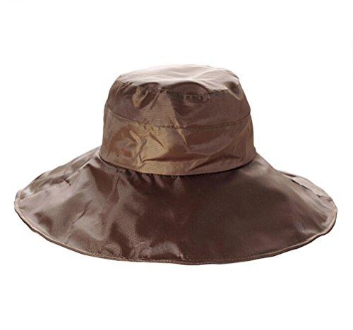 GAMT Unisex Solid Color Rain Hat Foldable Waterproof Coffee (Hat Safari Rain)