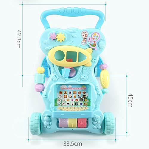 Ybriefbag-Toys Baby Three-in-one Activity Walker Infant and Child Anti-Rollover Walker 6-18 Months Baby Multi-Function Walker Trolley Toy (Color : Blue, Size : 42.34533.5CM) by Ybriefbag-Toys (Image #6)