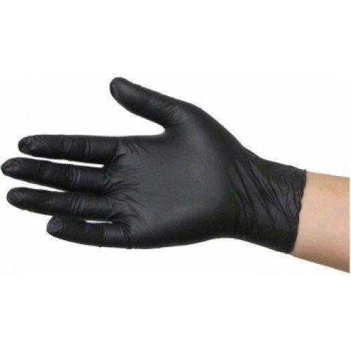 Black Latex Gloves Pack of 10 GSB2-10