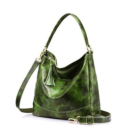 Spalla Con Tracolla In A Pelle Black Vera Green Borse Ozw5qx6fx