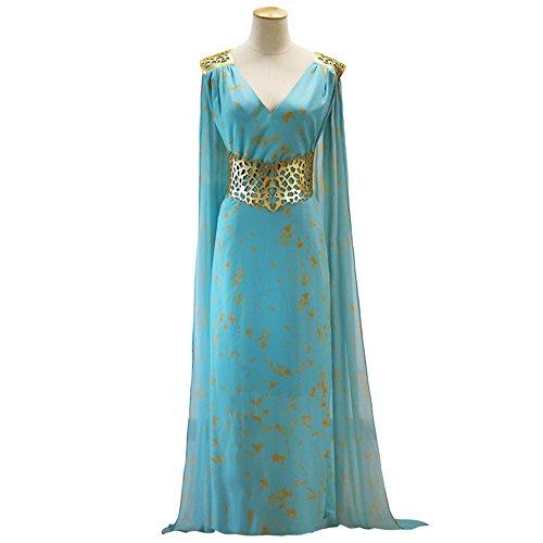 Qarth Daenerys Costume (Game Of Thrones Daenerys Targaryen Qarth Dress Party Halloween Cosplay Costume)