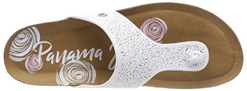 Panama Jack Ladies Quinoa Rose Separatore Toe Bianco (blanco)