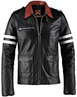 Prototype Mens Black Leather Jacket