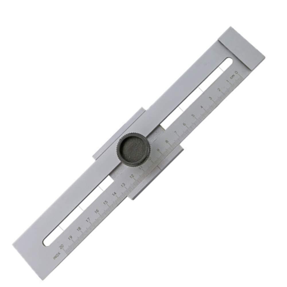 Getit72Trusquin en acier inoxydable–industriel de haute précision marqueur Accessoires de machines de travail du bois Trusquin Outil de précision pour une variété de Baliser les travaux, Argent