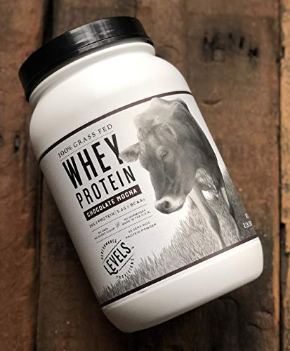Levels 100% Grass Fed Whey Protein, No GMOs, Chocolate Mocha, 2LB