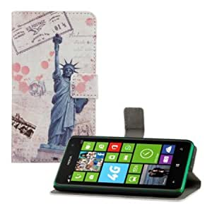 Viesrod Chic leather wallet case for the Nokia Lumia 625 with convenient stand function - MOTIF City design (New York)...