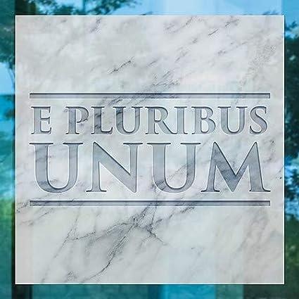 CGSignLab   24x24 5-Pack Inner CircleE Pluribus Unum -Square Window Cling
