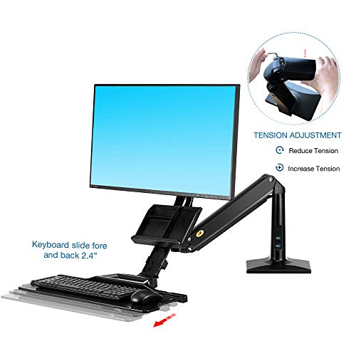 Jual North Bayou Sit Stand Desk Converter Height Adjustable Standing