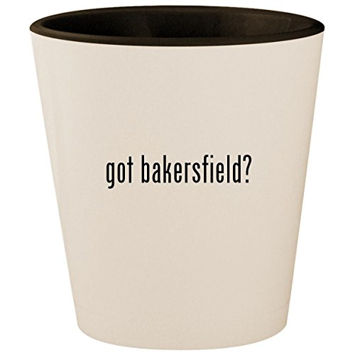 got bakersfield? - White Outer & Black Inner Ceramic 1.5oz Shot Glass