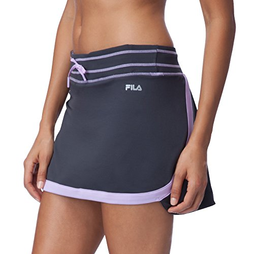 Fila Women's Secret Message Skorts, Ebony, Lavender Field, M