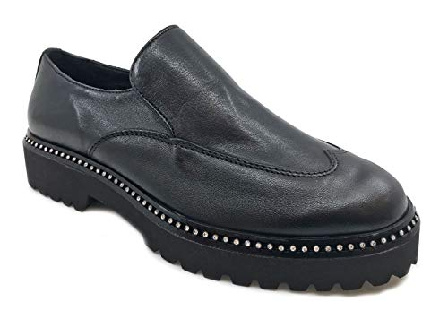 De Piel nbsp;zapato Para Cuoieria 20676 Negra Mujer Antigua Negro z4FXYxw