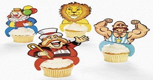 24 Plastic Carnival Character Cupcake